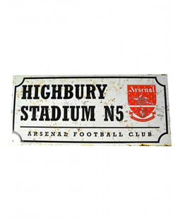 Arsenal FC Retro Street Sign