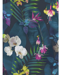 Tropics Pindorama Floral Wallpaper - Navy - Arthouse 690101