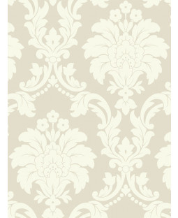 Romeo Damask Wallpaper - Cream - Arthouse 693502