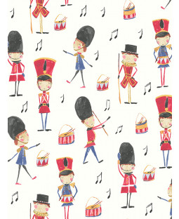Arthouse Drummer Boy Soldier Wallpaper - Red - 696003