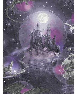 Magical Kingdom Wallpaper Purple Arthouse 696101