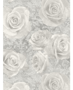 Reverie Rose Wallpaper Silver Arthouse 623303
