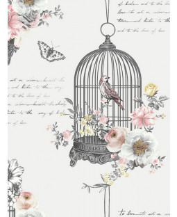 Diamond Birdcage Wallpaper Neutral Arthouse 259700