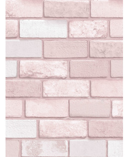 Diamond Brick Wallpaper Pink Arthouse 260005