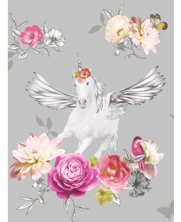 Fantasia Anastasia Unicorn Wallpaper Silver Arthouse 692303
