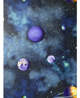 Solar Planets Wallpaper Navy / Multi Arthouse 296000