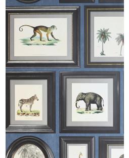 Powder Room Frames Wallpaper Navy Arthouse 908405