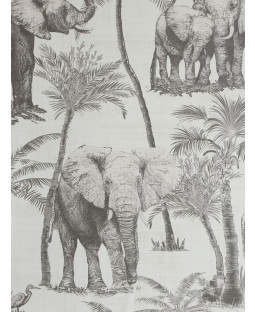 Safari Elephant Wallpaper Charcoal Arthouse 296700
