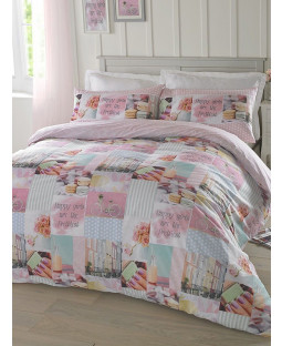 Hashtag Pretty Pastels Single Duvet Cover and Pillowcase Set