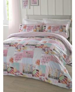 Hashtag Pretty Pastels Single Duvet Cover and Pillowcase Set