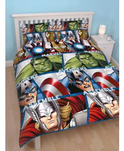 Marvel Avengers Shield Double Duvet Cover and Pillowcase Set