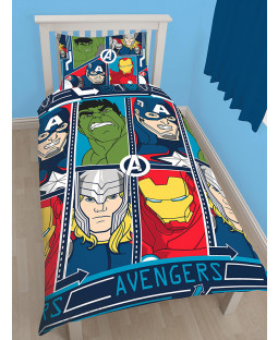 Marvel Avengers Tech Single Duvet Rotary Cover Set