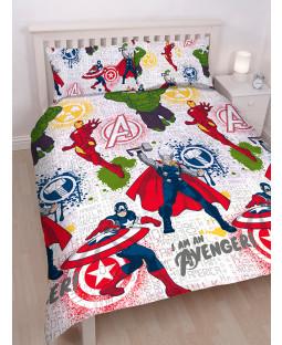 Marvel Avengers Mission Double Duvet Cover Set captain america boys children kids bedding