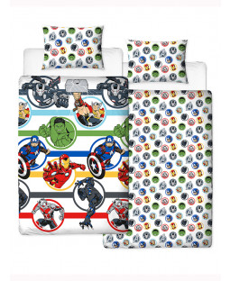 Marvel Avengers Reversible Single Duvet Cover and Pillowcase Set