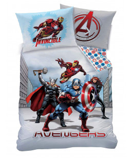 Marvel Avengers City Single Duvet Cover and Pillowcase Set