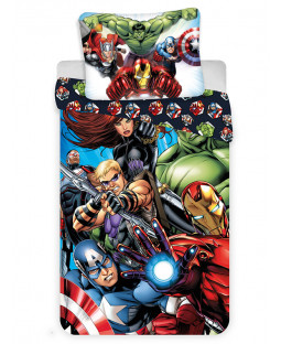 Marvel Avengers Single Cotton Duvet Cover and Pillowcase Set