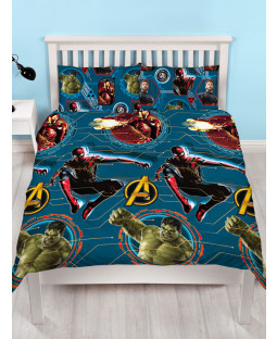 Marvel Avengers Force Double Reversible Duvet Cover Set