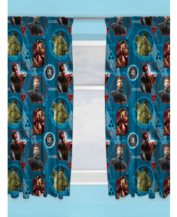 "Marvel Avengers Force Curtains 72"" Drop"