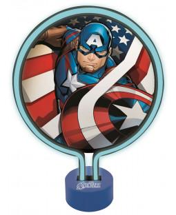 Marvel Avengers Captain America Neon Light