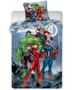 Marvel Avengers Assemble Single Duvet Cover Set - European Size