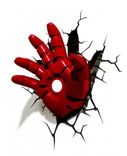 Lámpara de pared LED 3D Marvel Iron Man Hand
