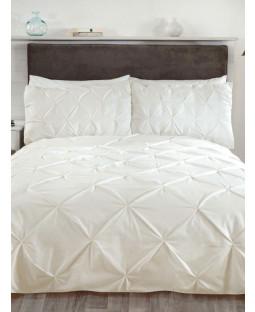 Balmoral Pin Tuck Cream Super King Duvet Cover and Pillowcase Set