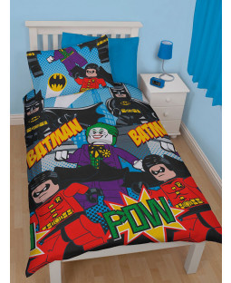 DC Superheroes Lego Batman Dynamic Single Duvet Cover Set