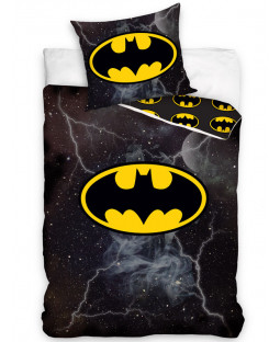 Batman Lightning Single Duvet Cover and Pillowcase Set