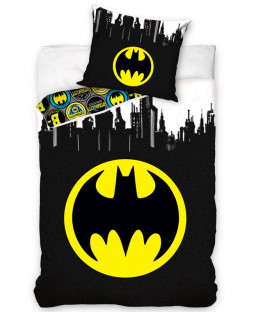 Batman Logo Gotham Single Duvet Cover and Pillowcase Set