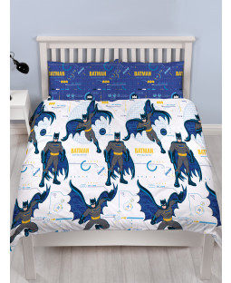 Batman Tech Double Duvet Cover and Pillowcase Set