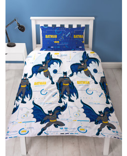 Batman Tech Single Duvet Cover and Pillowcase Set