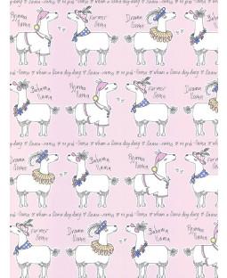 Llama-Rama Wallpaper Rosa Belgravia L9731