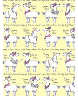 Llama-Rama Wallpaper Yellow Belgravia L9732