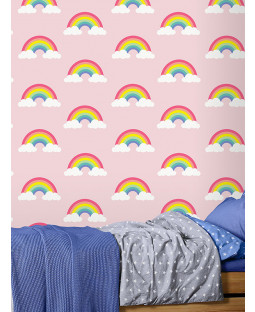 Rainbow Wallpaper Pink Feature Wall Belgravia 9991