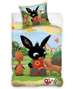 Set copripiumino singolo Bing Bunny Play - misura europea