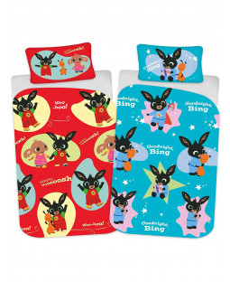 Bing Bunny Whoosh 4 in 1 Junior Bedding Bundle Set (Duvet, Pillow and Covers)