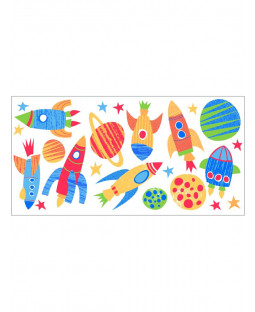 Blast Off Wall Stickers - 23 Pieces