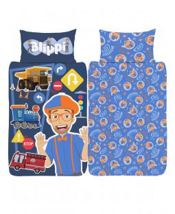 Blippi 4 in 1 Junior Bedding Bundle Set (Duvet, Pillow and Covers)