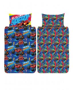Blaze Blazing 4 in 1 Junior Bedding Bundle Set (Duvet, Pillow and Covers)