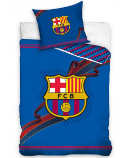 FC Barcelona Ribbon Single Cotton Duvet Cover Set