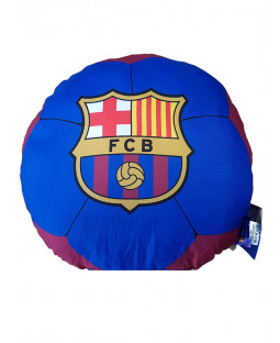 Barcelona FC Football Shaped Filled Cushion
