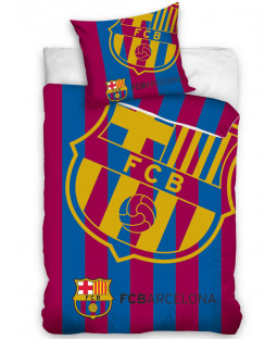 FC Barcelona Corner Logo Single Duvet Cover Set