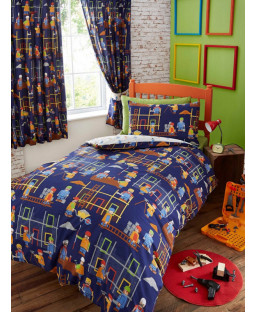 Building Site Junior Duvet Cover and Pillowcase Set