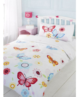 Butterfly 4 In 1 Junior Bedding Bundle (Duvet And Pillow And Covers)