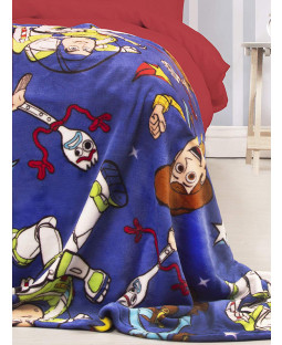 Toy Story 4 Woody Forky Buz Fleece Blanket
