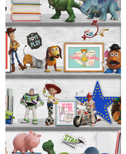 Disney Toy Story 4 Play Date Wallpaper Multi Graham & Brown 105828