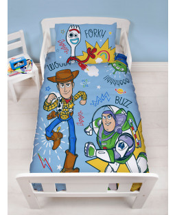 Toy Story Roar 4 in 1 Junior Bedding Bundle Set (Duvet, Pillow and Covers)