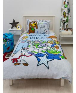 Juego de funda nórdica y funda de almohada individual Toy Story 4 Roar