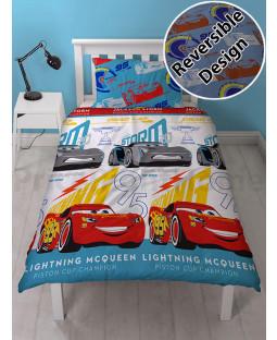 Disney Cars 3 Lightning Single Duvet Cover Set - Rotary Design