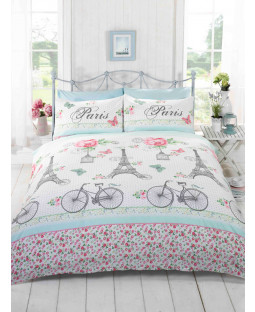 C'est La Vie Paris King Size Duvet Cover and Pillowcase Set